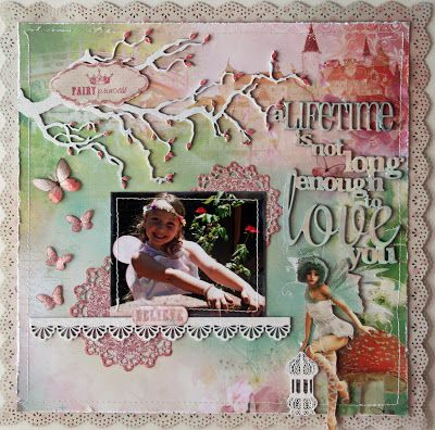 USE WITH ENCHANTED PAPER WITH FAIRYTALE PAPER PACK Kaisercraft - Enchanted Garden layout idea