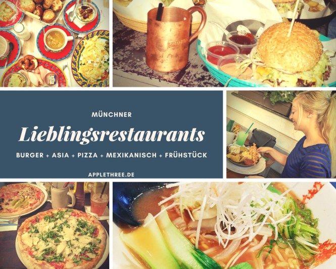 Die Münchner Lieblingsrestaurants von Ina vom Foodblog applethree.de Empfehlungen für Burger, Pizza, Asia, Mexikanisch und zum Frühstück werden vorgestellt.