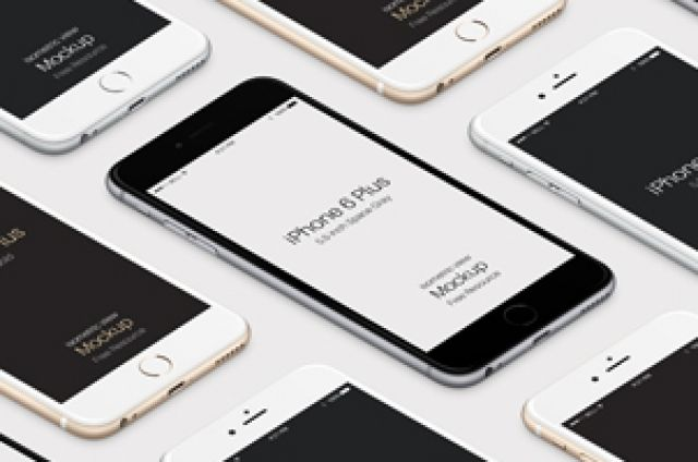 This is the iPhone 6 Plus Psd version of our perspective scalable vector shape iPhone 6 Plus Psd to showcase your...
