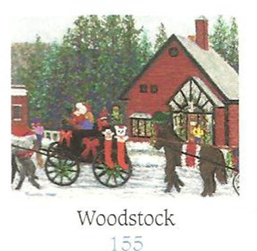 "KP155, Woodstock tealight, $22.95: Round bone china tealight, painted from the inside to prevent chipping & fading.  Featuring a typical New England winter ski farm scene.  About 3"" dia., 3"" high.  Use LED tealight; gift boxed."
