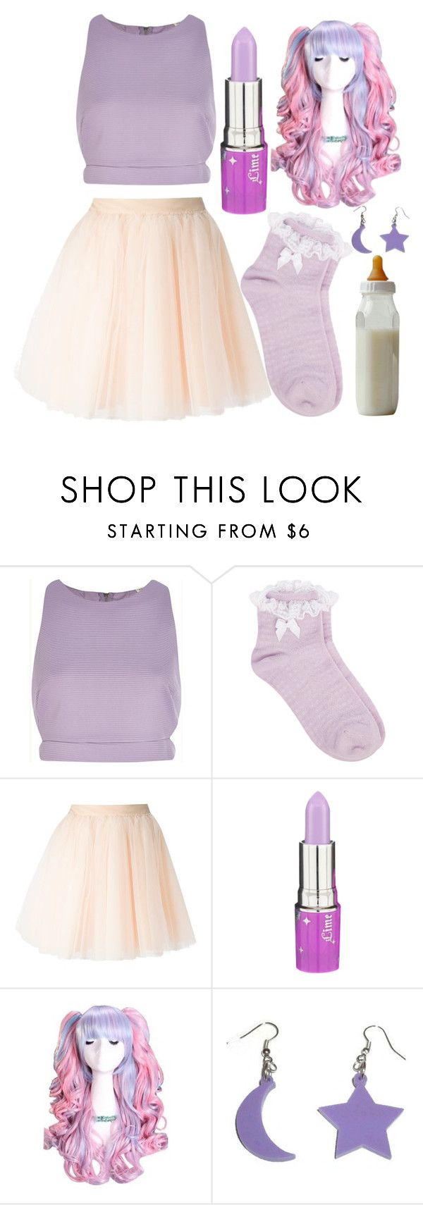 """""""Inspired By Melanie Martinez"""" by callmemonse ❤ liked on Polyvore featuring River Island, Oasis, Moschino and Lime Crime"""