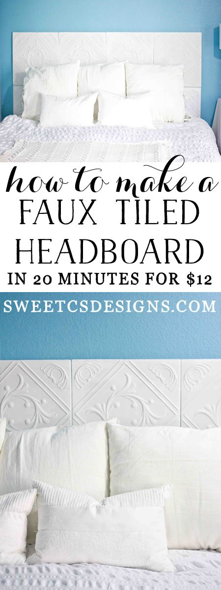 Make an awesome headboard for twenty bucks! Would be fun to spray paint the foam tiles a bright color