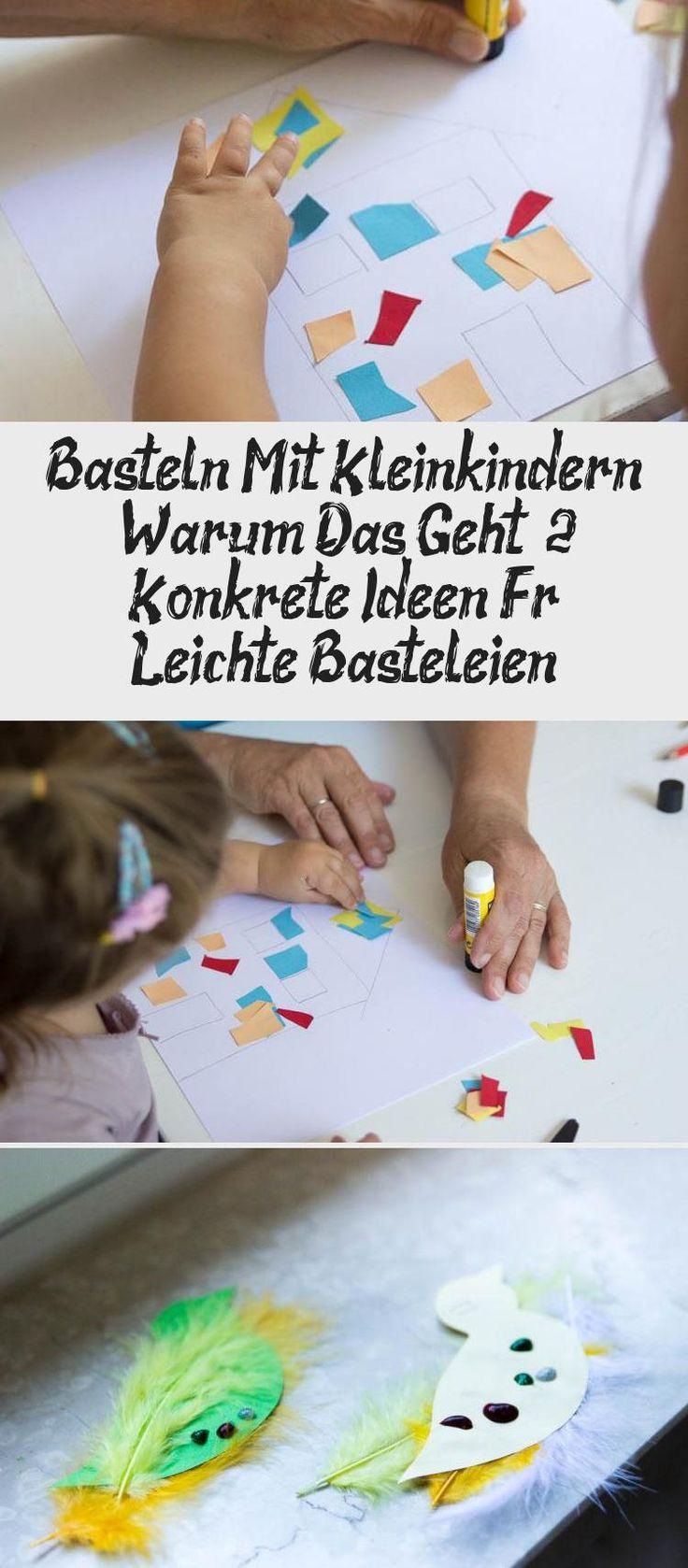 basteln mit kleinkind  leichte und einfache ideen für 2