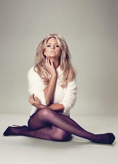 Miranda Lambert wearing purple tights