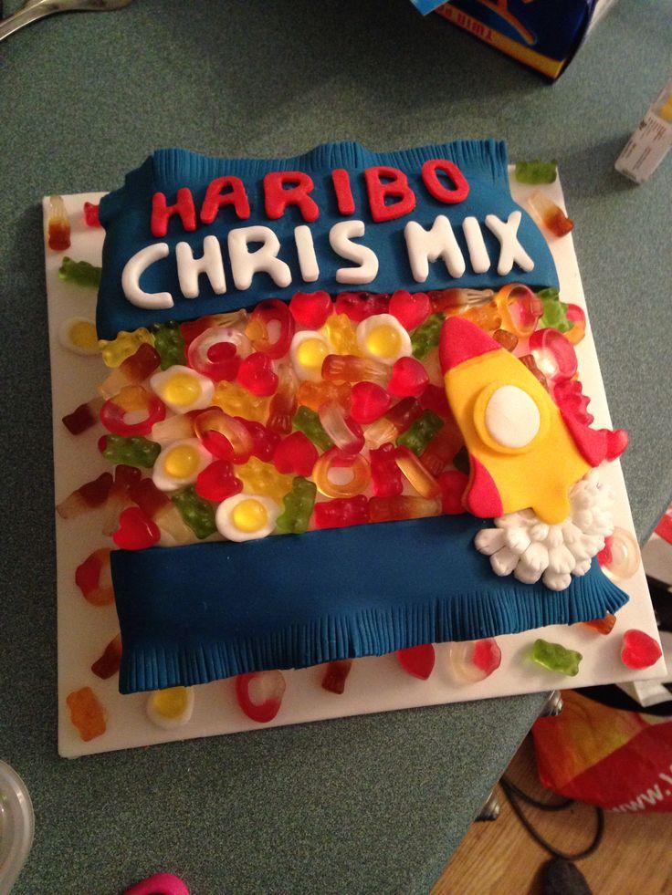 Husbands haribo cake