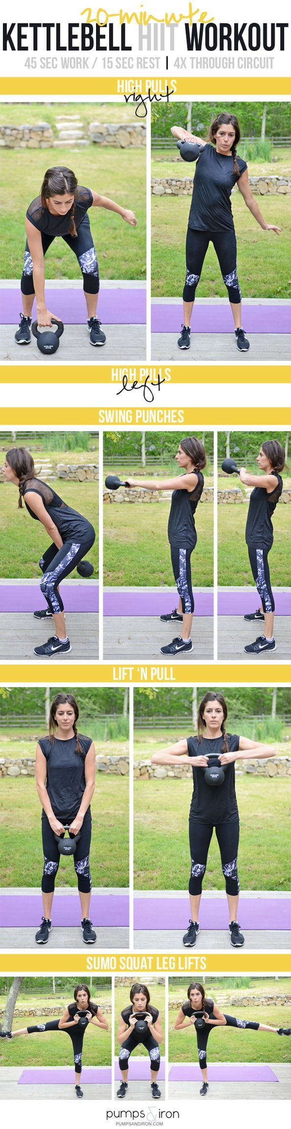 Kettlebell HIIT Workout with Resistance Band Warm Up