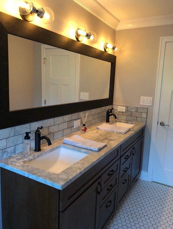 Charmant CUSTOM SIZE MIRRORS Mirror Bathroom Mirror Vanity Mirror | Etsy Wood Framed  Mirror, Modern Bathroom