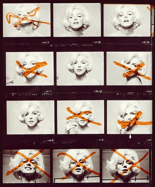 Marilyn Monroe had a say in which photo proofs she liked and disliked