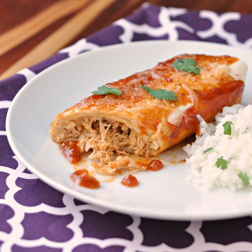 Honey Chipotle Chicken Enchiladas ~ The Way to His Heart #slowcooker #enchiladas