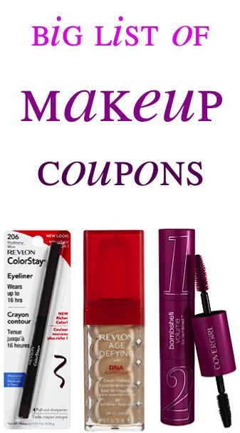BIG List of Makeup Coupons: $2.00 off 1 Revlon, $1.00 off 1 Rimmel + more! #thefrugalgirls