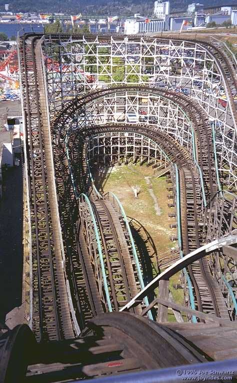 """The Big Dipper"", Playland at the PNE, Vancouver, BC. A truly classic ride. This view is from the top of the first hill."
