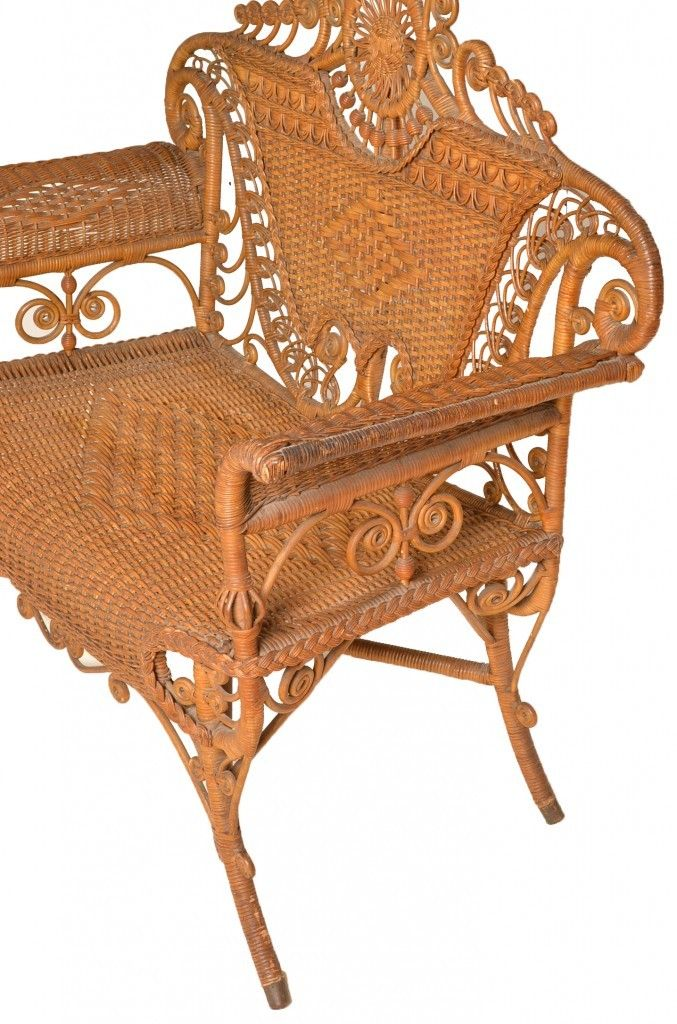 Liza Antique White Panel Bedroom Set: 17 Best Images About Antique Wicker & Rattan Furniture On