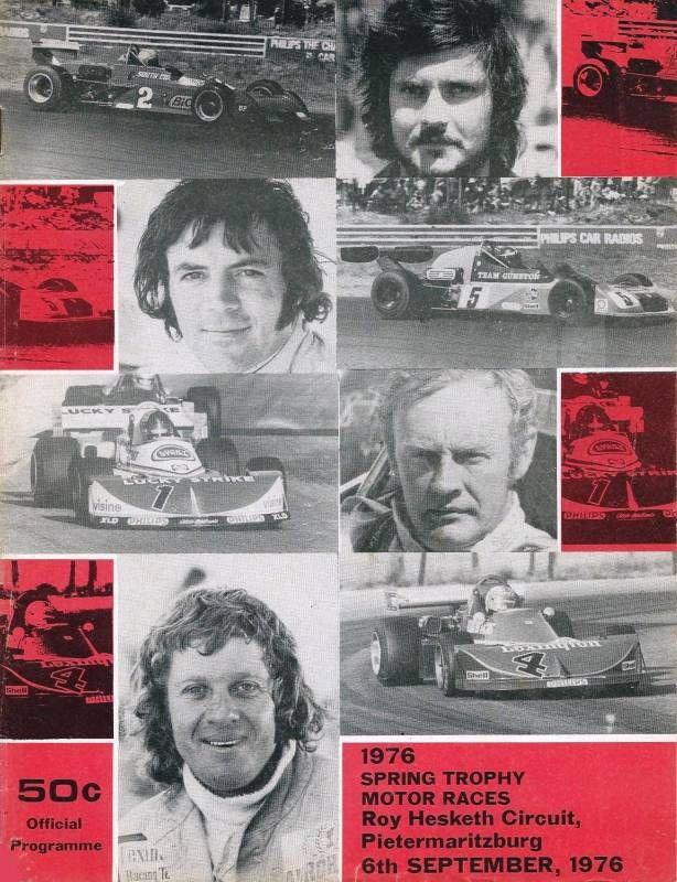 Roy Hesketh Racing Programmes 6th September 1976 | Pietermaritzburg
