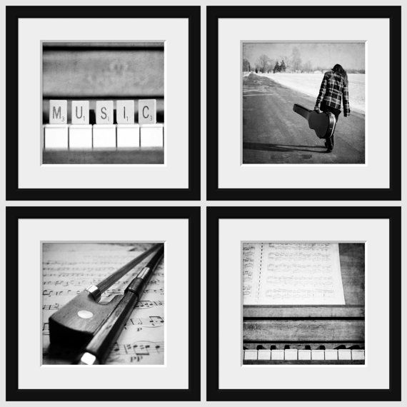 Music Wall Art Black White Photography by KimberosePhotography, $20.00