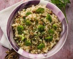 Risotto champignons et brocoli