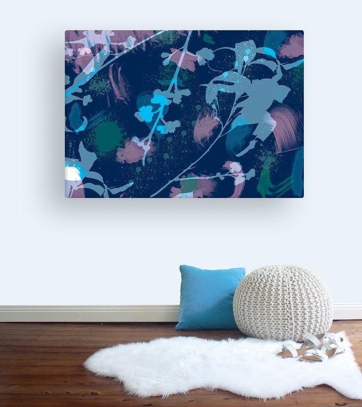 Gum Tree canvasin Navy Blue. Australian wall art canvas | Wallstudio