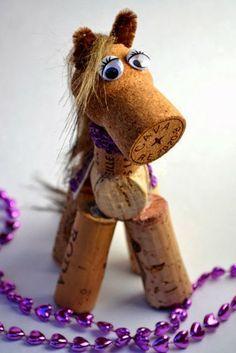 laboratori per bambini creativi con i tappi di sughero kids craft wine corks cavallo