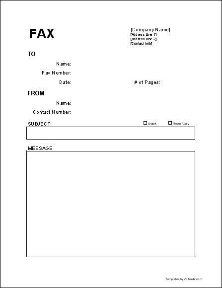 Useful Free Fax Cover Sheet Template for those of us still using faxes...  :-)