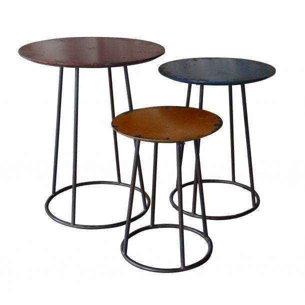 Metal End Table Set Of Three | Memoky.com