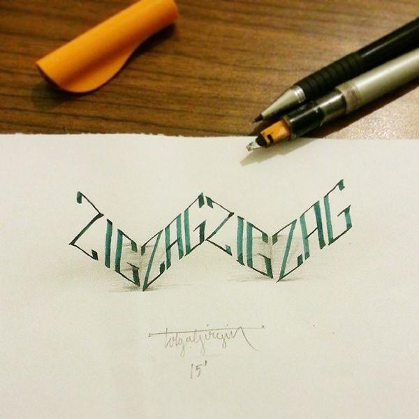 Anamorphic lettering - Album on Imgur