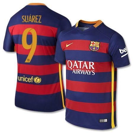 Nike Barcelona Home Suarez No.9 Shirt 2015 2016 Barcelona Home Suarez No.9 Shirt 2015 2016 (Official Player Printing) http://www.MightGet.com/february-2017-2/nike-barcelona-home-suarez-no-9-shirt-2015-2016.asp