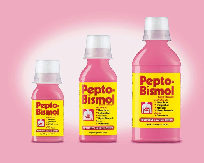 Pepto Bismol  You may have come to love this tummy aid relief over the years for its fast-acting properties, but the drugstore find can also make your face look younger. Yes, it's true. Slather it on your face and then remove with warm water. The ingredients in Pepto are said to act as a facial tightening agent.
