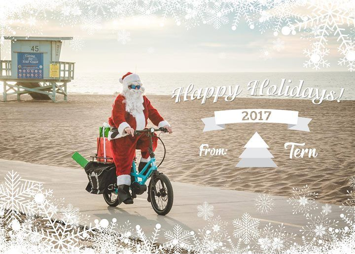 Disfruta de las bicicletas Tern eléctricas. Felices Vacaciones 2017 y Feliz Año nuevo 2018 desde el equipo de Tern. #bicyclehobbies.com  #bikeaccessories  #cycleisfun  #cycleforlife