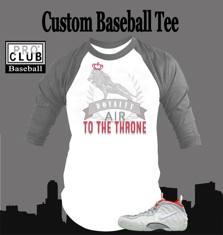 Baseball T Shirt To Match Pure Platium Yeezy Foamposite