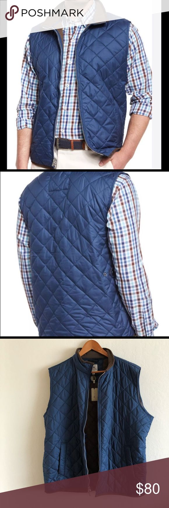 NWT Peter Millar blue quilted zip up vest Zip ups