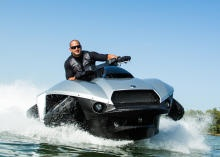 I WANT THIS!... The Quadski holds one rider, goes from land to water in 5 seconds, and is able to travel on both at 45 mph. Read this article by Wayne Cunningham on CNET. via @CNET