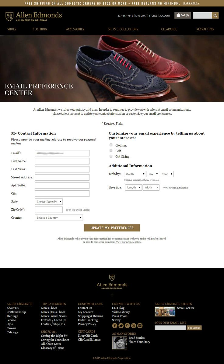 How to contact Allen Edmonds and about Allen Edmonds ?