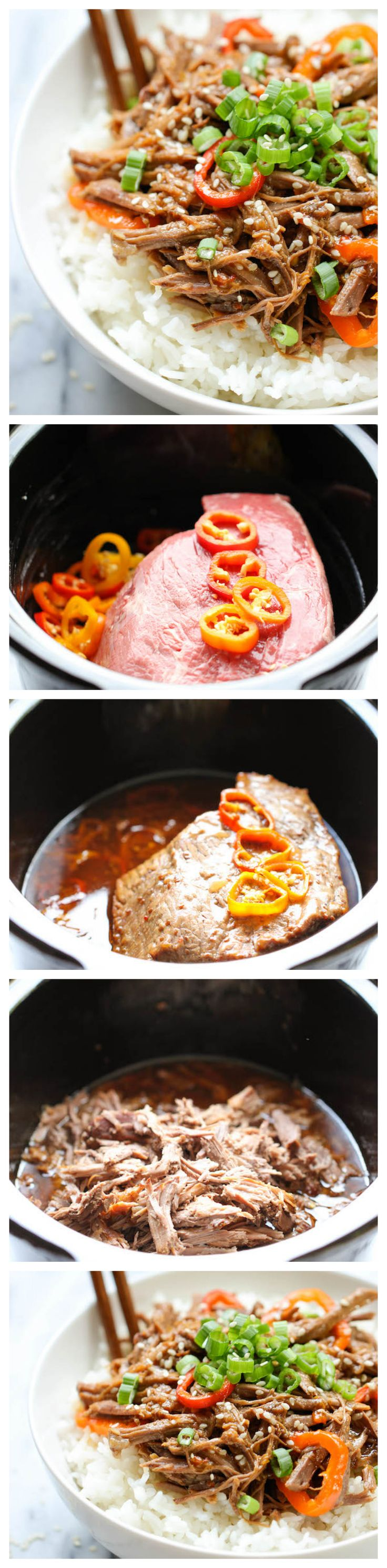 Slow Cooker Korean Beef - Amazingly tender, flavorful Korean beef made right in the slow cooker with just 3 ingredients and 5 min prep! ...........click here to find out more http://kok.googydog.com