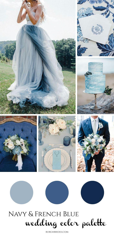Navy French Blue Wedding Inspiration Blue Wedding Dresses Navy Wedding Colors French Blue Wedding