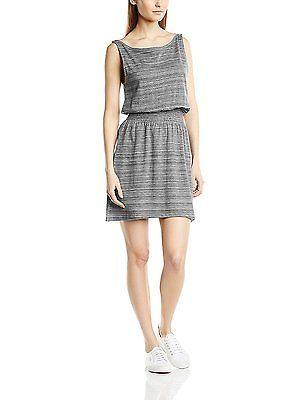 Small, Grey (IKAT Bar Stripe), Roxy Women's Prarie Creek Short Sleeve Dress NEW