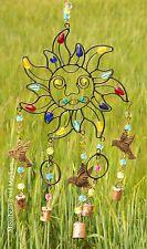 ♥ FAB SUN,BIRDS BELLS 'N' BEADS WIND CHIME MOBILE BOHO HIPPIE FESTIVAL GARDEN