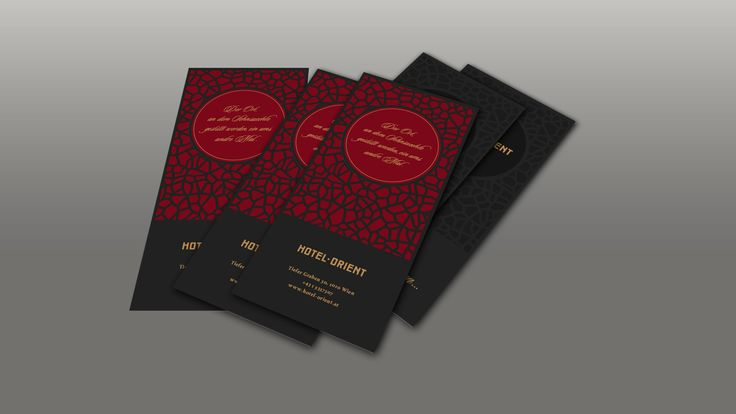 Hotel Orient: Infokarte-Türhänger