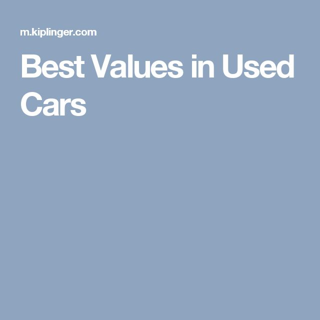 Best Values in Used Cars