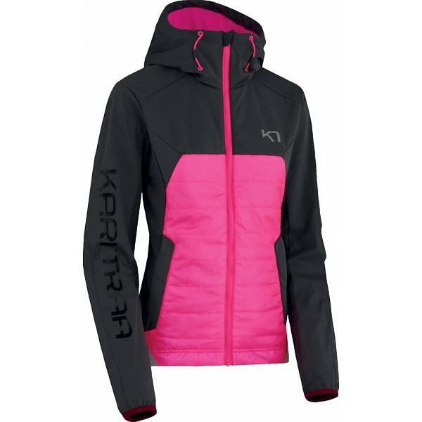Ida sportieve dames winterjas roze-antraciet
