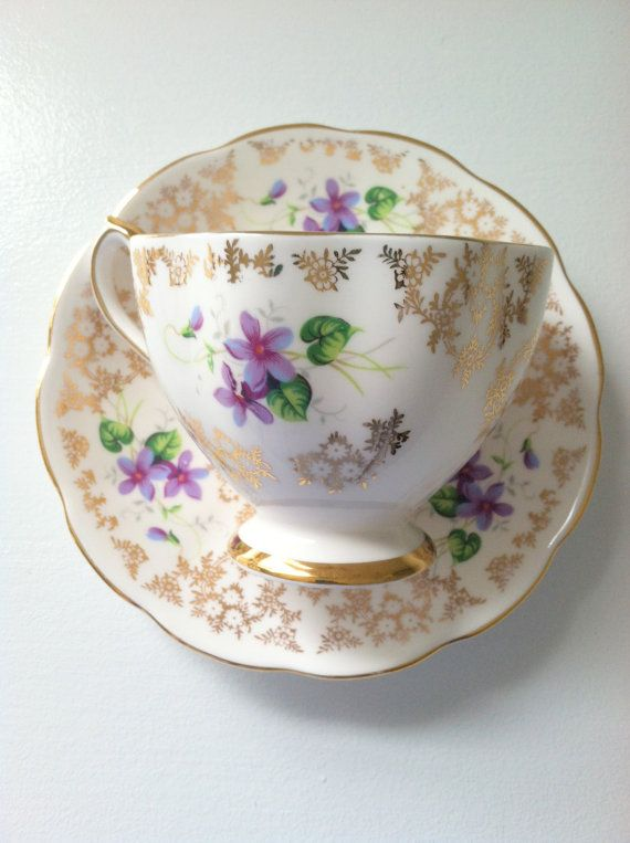 Vintage Fine Bone China Tea Cup and Saucer Made by MariasFarmhouse, $30.00