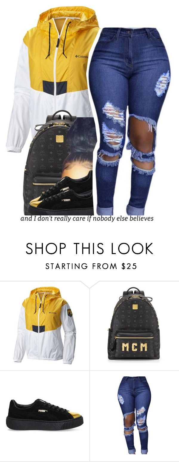 """""""10.23.16"""" by trinityannetrinity ❤ liked on Polyvore featuring Columbia, MCM and Puma"""