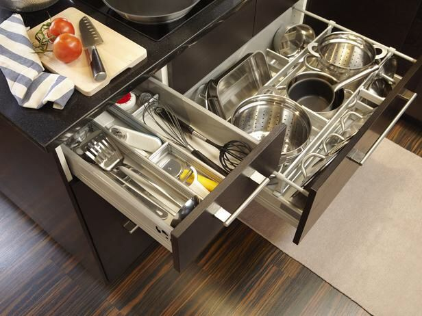Clear the kitchen clutter with RATIONELL drawer organizers!
