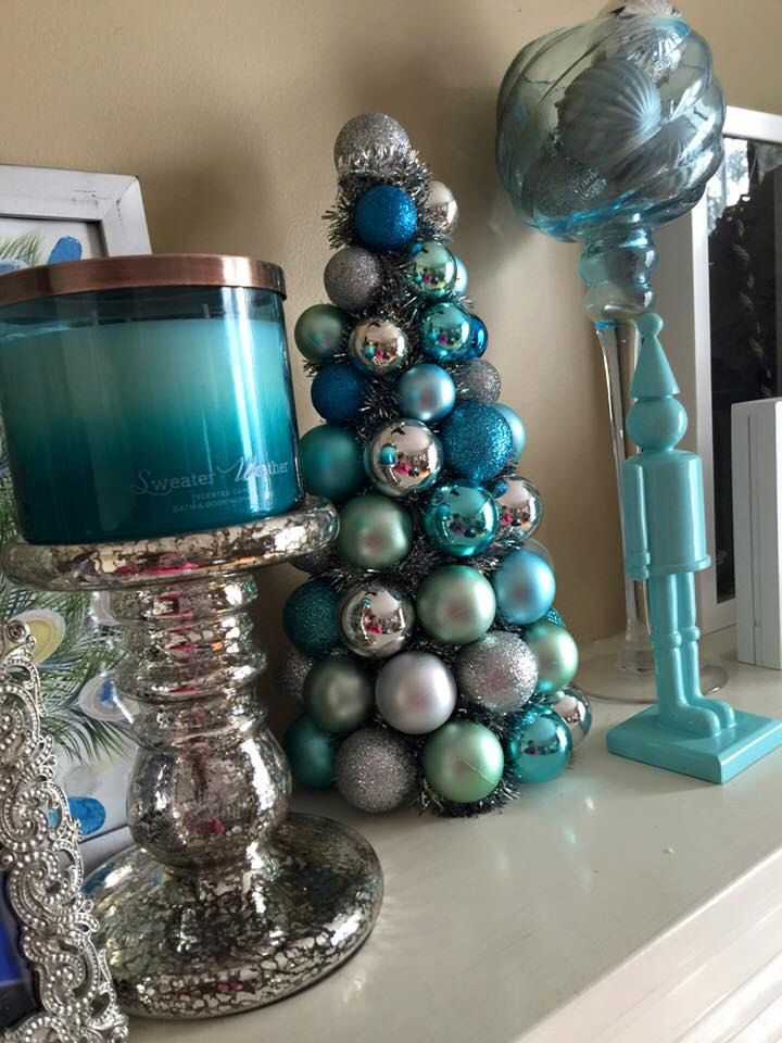 Add a custom colored ornament tree to your holiday decor ...