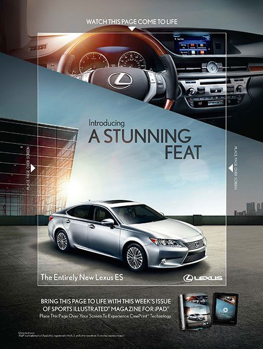 Lexus animates a print ad by projecting through it from an iPad - News - Digital Arts