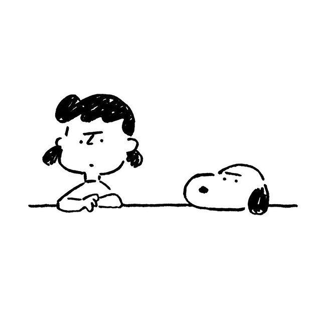 Lucy van Pelt & Snoopy. 長場雄