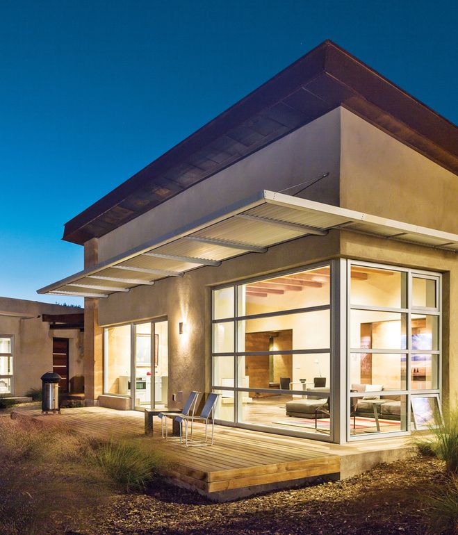Studio eM Design's rammed-earth home in Corrales, New Mexico, updates the regional adobe archetype into a hallmark of sustainable design.