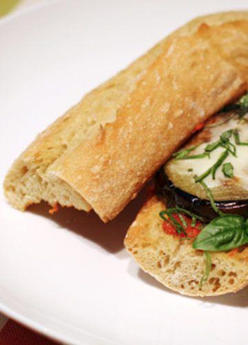 Spicy meatball sandwich