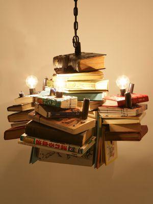 Books chandelier - fancy!