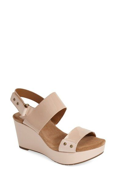 Clarks®+'Caslynn+Dez'+Patent+Leather+Platform+Sandal+(Women)+available+at+#Nordstrom