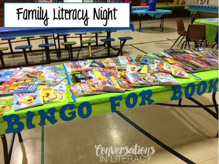 Bingo For Books- literacy night, back to school and open house activity