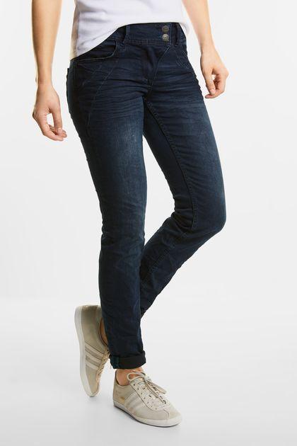 Donkerblauwe jeans Scarlett